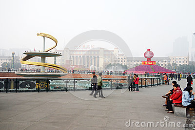 2013 chinese spring festival in Chengdu Editorial Photo