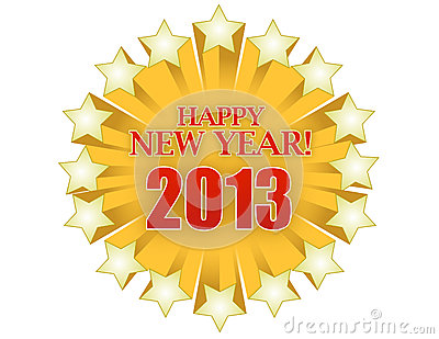 2013 Happy new years star illustration