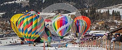 2013 Hot Air Balloon Festival, Switzerland Editorial Photo