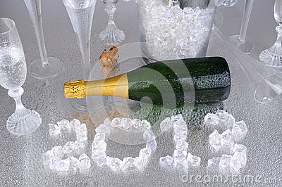 2013 in Ice with Champagne