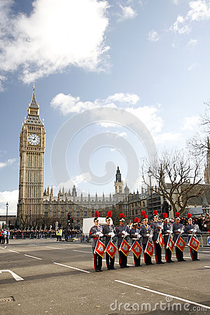 2013, London New Years Day Parade Editorial Photography