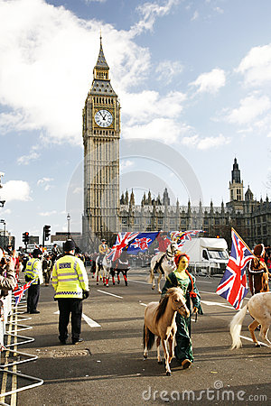 2013, London New Years Day Parade Editorial Stock Image