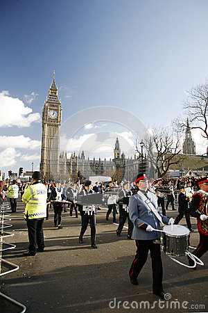 2013, London New Years Day Parade Editorial Photo