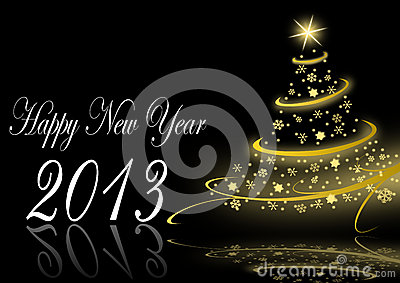 2013 neue Jahre Abbildung mit Weihnachtsbaum