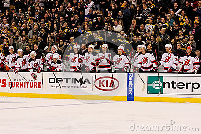 2013 New Jersey Devils bench Editorial Stock Image