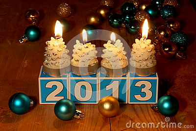 2013 New Year Card - Stock Photo