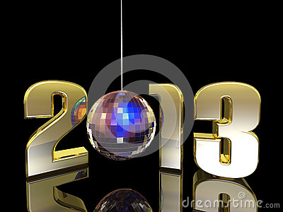 2013 New Year Disco Ball Stock Photos - Image: 28414633