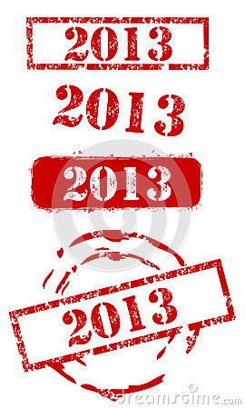 2013 New Year Stamp Set
