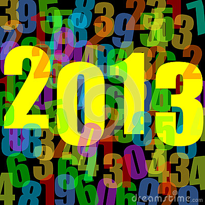 Stock Photography: 2013 new years illustration. Image: 27208102