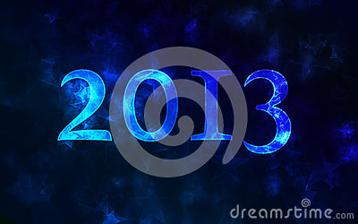 2013 number on a blurred background.