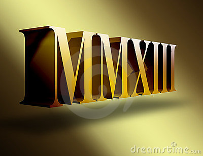 what are the roman numerals for 2013