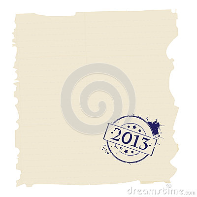 2013 stamp on paper
