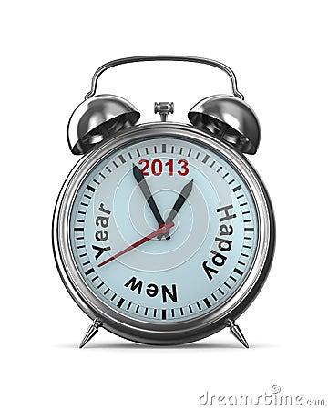 2013 year on alarm clock