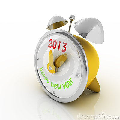 2013 year on alarm clock