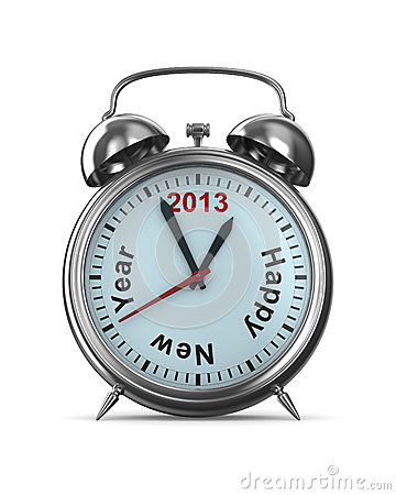 Free 2013 Year On Alarm Clock Stock Images - 26318454