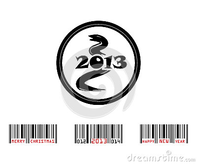 2013 year of snake with barcode