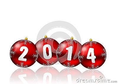 2014 anos novos de ilustração