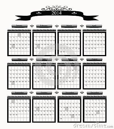 2014 Big Professional Business Calendar