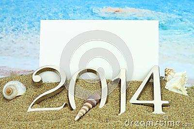 2014 card on the beach