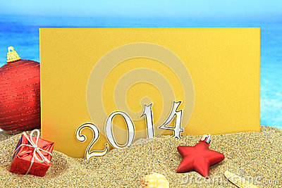 2014 card on the beach