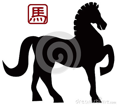 2014 Chinese Horse Forward Pose Illusrtation