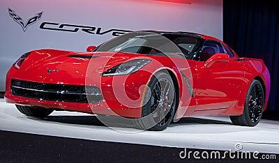2014 Corvette Stingray Debuts Editorial Stock Photo