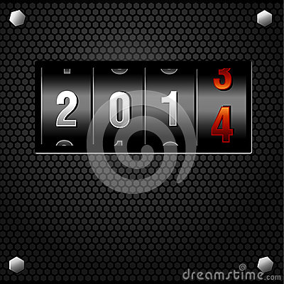 2014 New Year Analog Counter
