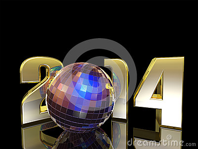 2014 New Year Disco Ball