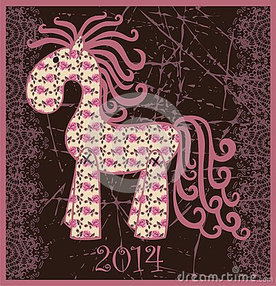 Free 2014 New Year Horse. Royalty Free Stock Photography - 32471067