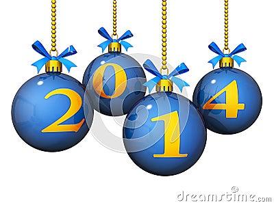 2014 ornamentos del Año Nuevo