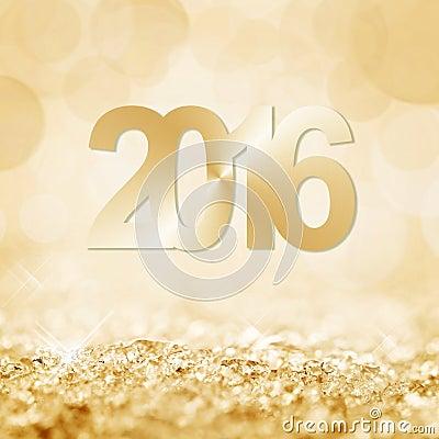 Free 2016 Golden Snow And Bokeh Royalty Free Stock Photos - 55419618