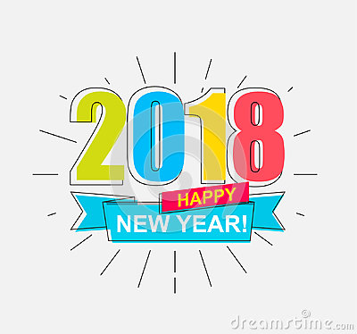 Free 2018 Happy New Year. Stock Images - 95121824