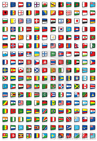 Free 204 Flags Of The World Royalty Free Stock Photo - 7578705