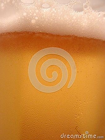 啤酒特写镜头