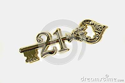 21st Birthday Key