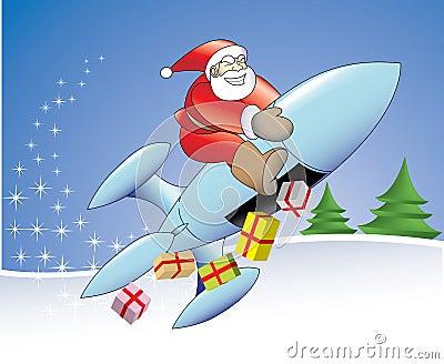 21st century rocket santa