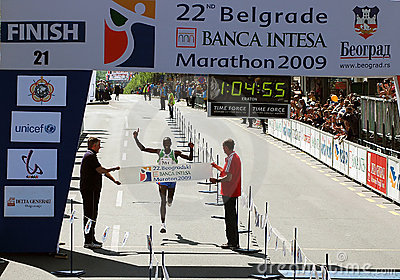 22nd.Belgrade marathon-Finish-Half Marathon Editorial Image