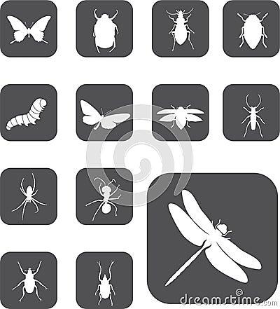 24 έντομα κουμπιών που τίθεν&t