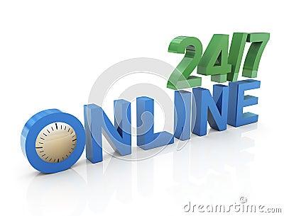 24/7 online