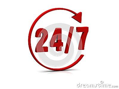 24/7 symbol