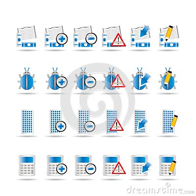24 Business, office and website icons