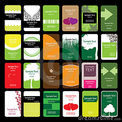 24 Colorful Vertical Business Cards