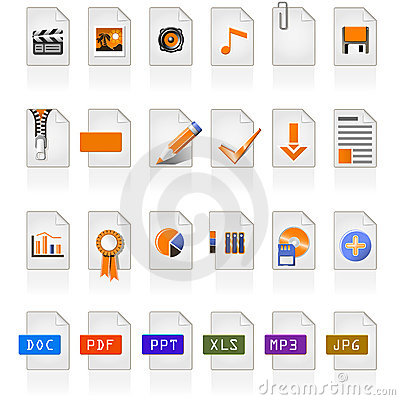 Free 24 File Icons Stock Photo - 4980130