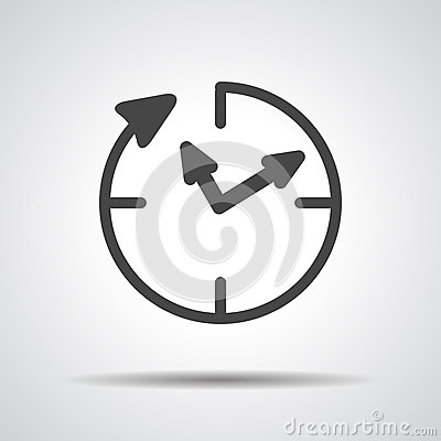 Free 24 Hour Assistance , Clock Icon Royalty Free Stock Photos - 53193408