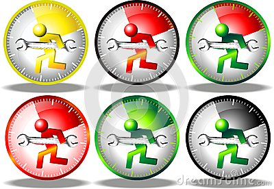 24 hour maintenance logo set