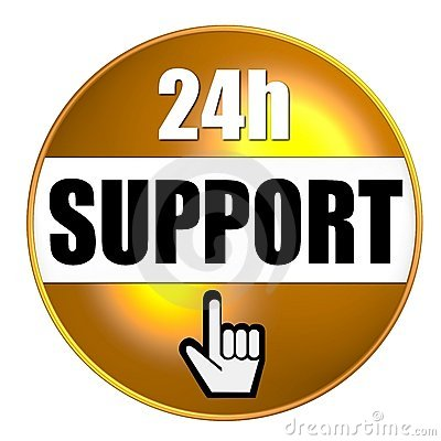 24-hour support graphic