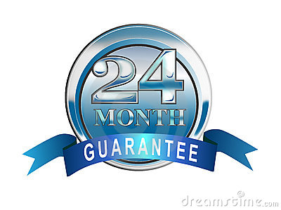 24 month guarantee icon