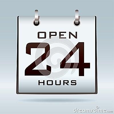 24hr开放的日历