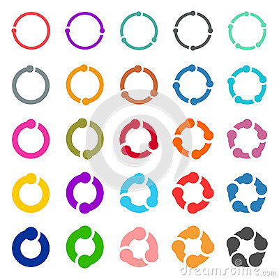Free 25 Arrow Pictogram Refresh Reload Rotation Loop Sign Set. Royalty Free Stock Photos - 71022178