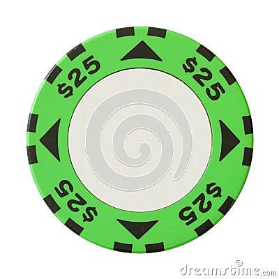 25 dollars casino chip